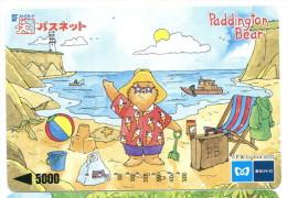 Japon - Titre de transport M : Ours Paddington