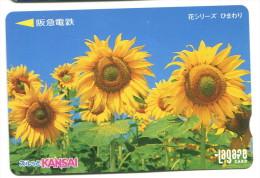 Japon - Titre de transport Lagare : Fleurs (tournesols)