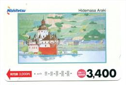 Japon - Titre De Transport Nishitestu : Illustrateur Hidemassa Araki - Chemins De Fer