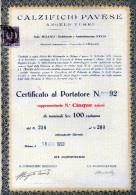 CALZIFICIO PAVESE-ANGELO TURRI--5 AZIONI--MILANO-18-1-1923-RARA - Industrie