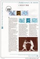 """2010 """" CHAMPIONNATS DU MONDE D´ESCRIME A PARIS """" Sur Document Officiel 1°Jour. N° YT 4510 4511. DPO - Documents De La Poste"""