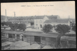 CHARGEMENT WAGONS INTERIEUR GARE CROUY 02 AISNE - France