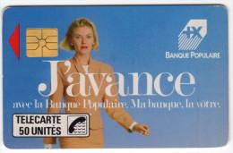 FRANCE D125 BANQUE POPULAIRE  50U 1000 Ex ANNEE 1989 - France