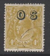 1932 3d Olive KGV OS CTO BW(OS)w