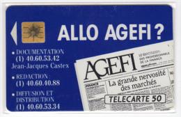 FRANCE D343 ALLO AGEFI  50U 1000 Ex ANNEE 1990