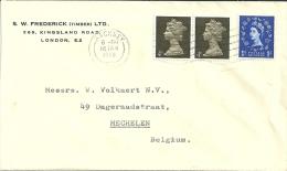 UK 1968 Hackney >> Mechelen B - Lettres & Documents