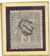 N°87 CACHET A DATE BELLE FRAPPE. - 1876-1898 Sage (Type II)