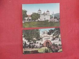 - California> Santa Barbara  Lot of 2 cards  Hand colored  ref 1727