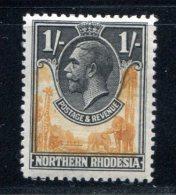 Northern Rhodesia #10 1925  MH*VF 1/ Part Elephant Giraffe Geroge V - Noord-Rhodesië (...-1963)