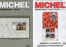 MICHEL Briefmarken Rundschau 1/2015 Sowie 1/2015-plus Neu 11€ New Stamps Of The World Catalogue And Magacine Of Germany - Mitteilung