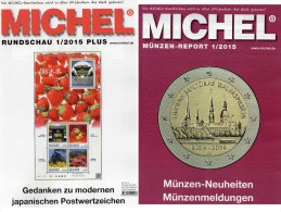 Briefmarken MICHEL Rundschau 1/2015 Sowie 1/2015-plus Neu 11€ New Stamps Of The World Catalogue And Magacine Of Germany - Actions & Titres