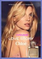LOVE STORY CHLOE EAU DE PARFUM FRAGRANCE COLLECTION PARFUM PERFUME CARD - Cartoline Profumate