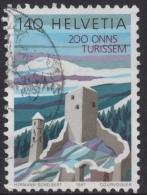 SWITZERLAND 1987  BICENTENARY OF TOURISM  1f40 JORGENBERG CASTLE STAMP VFU - Switzerland