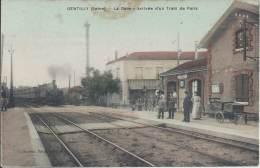 94 - GENTILLY - Val De Marne - La Gare - Arrivée D'un Train De Paris - Gentilly