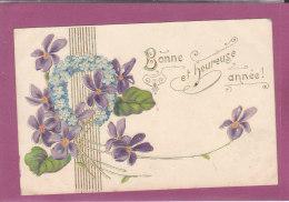 BONNE HEUREUSE ANNEE Gauffrée Brillante - Nouvel An