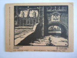 Antwerpen Anvers De Bloedberg Le Calvaire Red Star Line SS Pennland 1927 Engravings By Pellens - Antwerpen