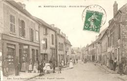Cpa Mantes La Ville Route De Houdan - Mantes La Ville