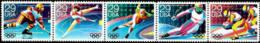 1992 USA Olympic Winter Games -Albertville Stamps #2611-15 2615a Hockey Skating Skiing Bobsledding - Skateboard