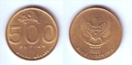 Indonesia 500 Rupiah 2001