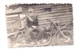 Altes Foto Mit Motorrad , NSU , BMW , DKW , Zündapp , Triumph , Ardie , EMW , BK , Awo , Oldtimer  !!?? - Motorräder