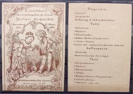 17.3.1883 Programm Stiftungsfest Berliner Mechaniker - Dorotheenstädtisches Casino Dorotheenstr. - Tickets D'entrée