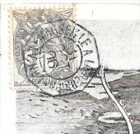 CPA.  CACHET MARITIMES.  MARSEILLE A LA REUNION ...1906.  TBE..CARTE CANAL DE SUEZ .  SCAN - Schiffspost