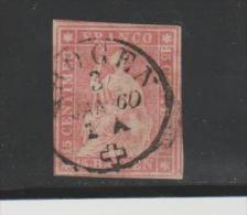 ChMi.Nr.15/- SCHWEIZ  Vollranding Mit Zentrischem Stempel Horgen, 3. Jan. 60  O - Gebraucht