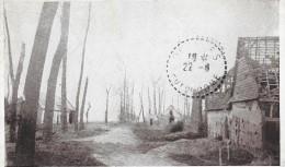 MAUCOURT  Cpa(80) Route De Fouquescourt (La Maison Martin) Guerre De 1914-1915 - France
