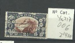 Nueva Zelanda 006, Yv. 217, Montaña, Nieva. Mountain - Gebraucht
