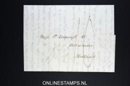 USA 1823 Complete Letter Philadelphia To Schiedam Holland Brielle Eng. Corresp. Korteweg 141 Cancel - Verenigde Staten