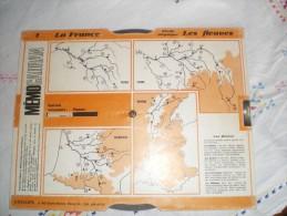 MEMOCADRAN - LA FRANCE  N° 1 - ETUDE PHYSIQUE LE LITTORAL - LES FLEUVES - GIRAUD ET BEETSCHEN - Autres Collections