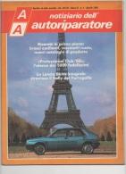 """03072  """"AA NOTIZIARIO DELL´AUTORIPARATORE - LANCIA DELTA - FIAT TIPO """". PERIODICO APRILE 1988 - Motori"""