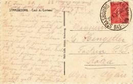 CP Affr 199 Obl STRASBOURG PL.DE LA GARE  Du 25.1.31 6 Cachet Autoplan - Marcophilie (Lettres)