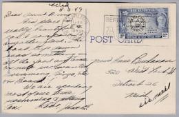 BERMUDA 1949-08-05 Hamilton Ansichtskarte Nach Detroit - Bermudes