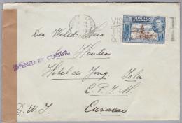 TRINIDAD & TOBAGO 1940-02-2? Port Of Spain Zensur Brief Nach Curacao - Trinité & Tobago (1962-...)