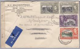 TRINIDAD & TOBAGO 1942-11-25 San Fernando Zensur Flupost Brief Nach London - Trinité & Tobago (1962-...)
