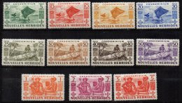 NOUVELLE-HEBRIDES - Série Complète De 1953 Neuve TB - Leyenda Francesa