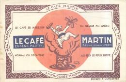 BUVARD - Illustré Par Le Café Martin - Le Malt Martin - Le Thé Martin - La Chicorée Martin - Signé Cappiello - Coffee & Tea