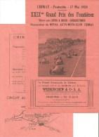 affiche 16cm x 24 cm Chimay 1959 19i�me grand prix des fronti�res vitesse pure autos et motos