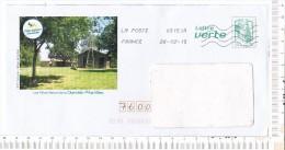 ENVELOPPE  PRE TIMBREE   - OBLITEREE   -  Illustration   :  Les  Pôles  Nature  De La  CHARENTE  MARITIME - Used Stamps