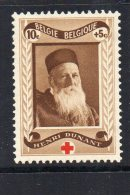 75e Anniversaire De La Fondation De La Croix- Rouge Internationale Au Profit De La Croix-Rouge De Belgique N°496 Du COB - Neufs