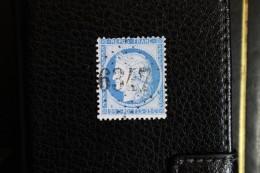 Timbre Poste 25c Cérès N°60 Oblitéré GC 6347 Fontaine Les Luxeuil Haute-Saône (69) - 1871-1875 Ceres