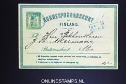 FINLAND: Korrespondanskort Used 1871/72