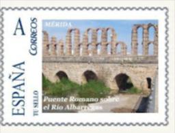 """Spain 2008– España """"Tu Sello"""". Sello Personalizado Del Puente Romano Sobre El Río Albarregas De Mérida - Ponti"""