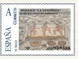 "Spain 2010– España ""Tu Sello"". Sello Personalizado Del Mosaico Romano ""La Vendimia"" De Mérida - Arte"