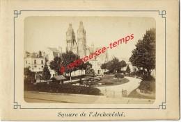 Vers 1880-TOURS-photo 10x6,7cm Albuminée Collée Sur Carton-square De L´archevêché - Anciennes (Av. 1900)