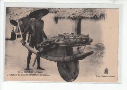 VIET NAM - TONKIN Types - HANOI - Conducteur De Brouette Transportant Des Cochons - Très Bon état - Vietnam