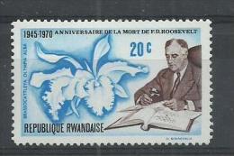 RWANDA 1970 - PRESIDENT ROOSEVELT - * MNH MINT NEUF NUEVO - Rwanda