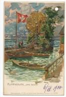 ROMANSHORN DAS INSELI 6/07/1900-litographie - TG Thurgovie