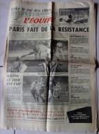 Journal L'Equipe - 4 Novembre 1985 - Paris - Voetbal